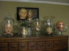 Creepy Doll Head Display