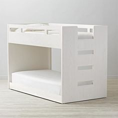 $1,598 BUY NOW  Best for Toddlers  Got twins? Or kids very close in age? Little ones won't be intimated by this scaled-down bunk. The bottom bed is low to the floor and sits on wheels, so you can roll it out if your tot needs a little breathing room. Plus, the smaller stature allows you to easily see the top bed without having to stand on your tippy toes.