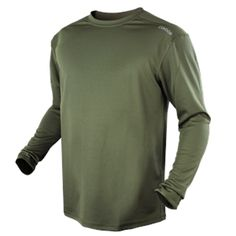 Condor Outdoor Maxfort Long Sleeve Shirt Performance Training Top (Large, OD Green) Ribbed collar for ventilation Breathable polyester fabric Moisture wicking Anti-Odor; Black And Navy, Black Tops, Navy Blue, Tanker Boots, Training Tops, Military Fashion, Tshirts Online, Neck T Shirt, Long Sleeve Shirts
