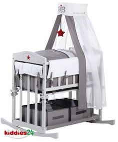 Roba-Stubenbett-Sitzbank-Babywiege-Sitzbank-Wiege-Bank-4in1-Rock-Star-Baby-Neu