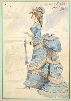 Costume Design for 'Madame Trentoni', Act I Percy Anderson (British, 1850/51–1928 London) Date: 1901 Medium: Watercolors over graphite Dime...