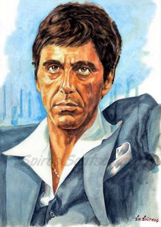 "Tony Montana ""Scarface"" Al Pacino painting portrait 