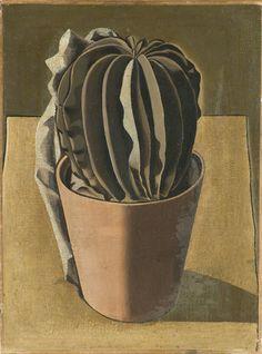 "Giorgio Morandi, ""Cactus,"" Oil on canvas. (Artists Rights Society, New York/SIAE, Rome) A New Look at the Paintings of Giorgio Morandi - The Leonard Lopate Show - WNYC Italian Painters, Italian Artist, Still Life Artists, Mark Rothko, Contemporary Ceramics, Ceramic Art, Flower Art, Yorkie, Painting & Drawing"