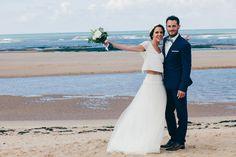 Mariage vendée Couple bord de mer Photo Be Happy Photography Robe Leutellier Tesson