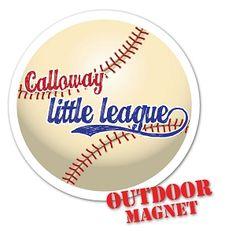 Designed Custom Round Car Magnet For Lake Norman Little League - Custom car magnets baseball