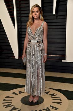 Actress Ana de Armas attends the 2017 Vanity Fair Oscar Party hosted by Graydon Carter at Wallis Annenberg Center for the Performing Arts on February 26, 2017 in Beverly Hills, California.