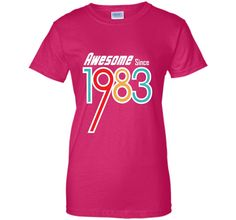 Awesome Since 1983 | 33rd Birthday Gift T Shirt