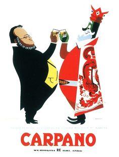 Armando Testa, Re Carpano Cavour, 1949-51