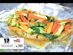 PESCADO EMPAPELADO | RECETAS LIGHT | Vicky Receta Facil - YouTube