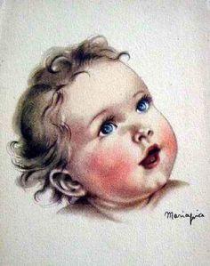 volto di bimba ...baby face ---  Maria Pia Franzoni (1902 – ?, Italian)