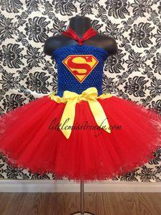 Superman Tutu Dress Super Girl Tutu by LittleMissTrendyTutu