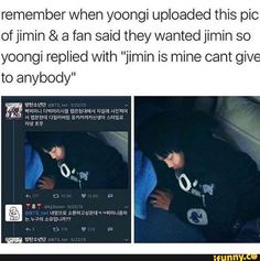 This is adorable :) And people still live in ignorance while YoonMin is totally real :')