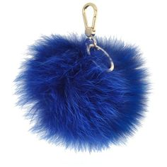 Furla Bubble Fur Pom Pom Key Ring (1.287.035 IDR) ❤ liked on Polyvore featuring accessories and lagoon