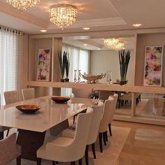 Dining Room Table Decor, Dining Room Walls, Dining Room Design, Flat Interior, Kitchen Interior, Kitchen Decor, Luxury Dining Tables, Luxury Dining Room, Home Room Design