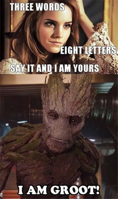 I AM GROOT!!!! I love guardians of the Galaxy