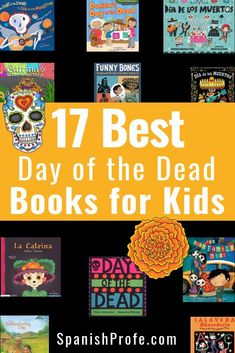 17 Best Day of the Dead (dia de los muertos) books for kids. Great list for bilingual and immersion classroom or to share, and learn about culture and traditions of the Day of the Dead with your bilingual children. Some of the books are bilingual and in t