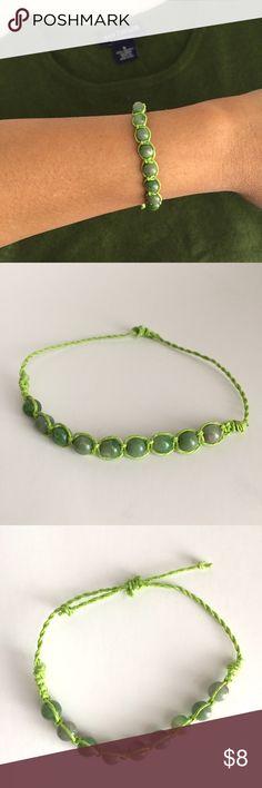 🔹Handmade🔹 hemp & bead adjustable bracelet Adjustable shambala bracelet made with hemp cord and plastic beads. Adjustable up to 8in. Handmade with care. Jewelry Bracelets