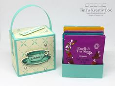 experimentieren Creative Box, How To Make Box, 3d Paper Crafts, Little Boxes, Stamping Up, Gift Packaging, Little Gifts, Card Templates, Birthday Cards