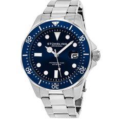 Stuhrling Original Men's Quartz Regatta Divers Bracelet Watch
