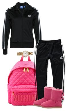 """adidas"" by simoneswagg ❤ liked on Polyvore featuring Moschino, adidas Originals, adidas, UGG Australia, Marc by Marc Jacobs, women's clothing, women's fashion, women, female and woman"