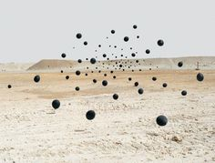 It's raining balloons! Put on your 3d glasses, and you just may jump right inside one of these photos. Or, so it would seem. These surreal moody balloons are the work of Andrea Galvani. It inspires us to see balloons used in various ways to create such beautiful landscapes in modern art.