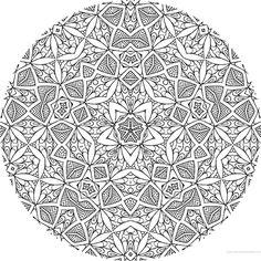 dessin mandala a colorier numero 079 mandala coloriage adulte via dessin2mandalacom