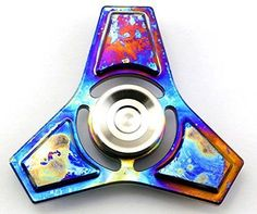 Tri-Spinner with colors! Fidget Smooth Surface & Spin Time. By TITANIUM Luxury Symphony. For more awesome Spinners & Toys check out our range on sale now... www.dizzyspinners.com