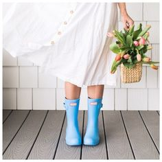 Nothing makes me want to go puddle hoppin' more than these perfectly blue rain boots! More must-have Spring shoes over on the blog ... http://liketk.it/2v9kj @liketoknow.it #liketkit