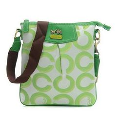 Cheap And Fashion Coach Swingpack In Signature Medium Green Crossbody Bags CEU Are Here!