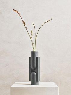 KALA Slender Ceramic Vase in Black design by Light and Ladder