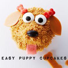 Vanilla Mocha Cupcakes perfect for the dog lover! #BiteMeMore #recipes