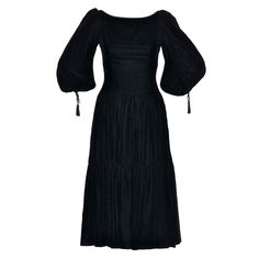 1970s Oscar de la Renta Peasant Dress | From a collection of rare vintage day dresses at https://www.1stdibs.com/fashion/clothing/day-dresses/