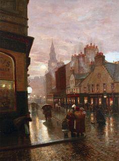 Showery evening, James McLachlan Nairn. English (1859 - 1904)