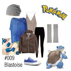 #009 Blastoise by iheartmytepig on Polyvore featuring polyvore, fashion, style, H&M, Zara, Givenchy, Converse, N.Peal Cashmere, Barts and 009