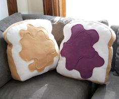 peanut butter and jelly pillows