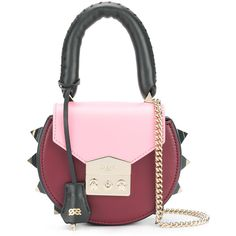 Bright Red String Shopper Bag - Pink Rock 'N Rose o9ggy