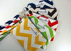 Zippered Wristlet Wallet / Camera  / iPhone Case with Strap in Chevron Zigzag...From Annika in Chautauqua. $24.99, via Etsy.