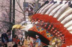 Stock Photo titled: Native American Float In Macys Annual Thanksgiving Parade In New York New York, unlicensed use prohibited
