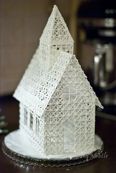 cathedral made of royal icing