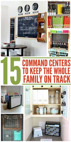 15 Command Centers to Keep Your Whole Family On Track