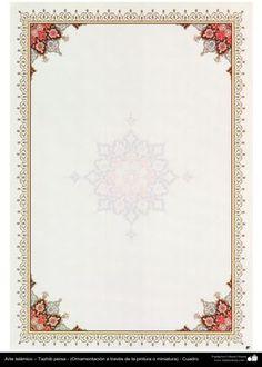 Arte islámico – Tazhib persa - cuadro - 27 | Galería de Arte Islámico y Fotografía