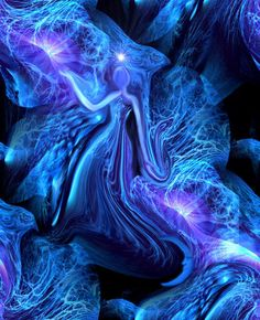 Figure Art Goddess Reiki Healing Energy Art Print Blue