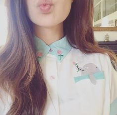 """A flower for you Mr Dolphin.  •blouse by @/lazyoafs •"""