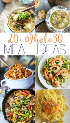 A collection of delicious Whole 30 meal ideas to add to yore meal plan. Recipes that make succeeding at the Whole 30 diet plan so much easier. Get your health back on track! Whole 30 Diet, Paleo Whole 30, Whole 30 Recipes, Healthy Dinner Recipes, Diet Recipes, Vegetarian Recipes, Delicious Recipes, Sin Gluten, Gluten Free