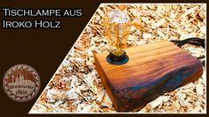 DIY Tischlampe bauen - DIY desk lamp Butcher Block Cutting Board, Bottle Opener, Barware, Woodworking, Wall, Diy Lamps, Lawn And Garden, Walls, Carpentry