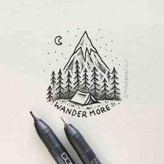 Sam Larson's mini black and white illustrations - Sam Larson is a freelance illustrator who practices his superb trade in Portland, Oregon. Inspiration Art, Tattoo Inspiration, Journal Inspiration, Nature Tattoos, Pen Art, Grafik Design, Doodle Art, Painting & Drawing, Drawing Drawing