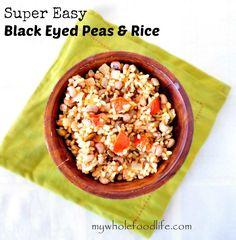 Black Eyed Peas - So good, taste like my mama's cooking. Her favorite meal was blackeyed peas and cornbread. SB