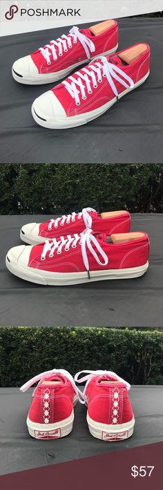 8b029aa49779 Converse Jack Purcell Low Top Size 11 Red Brand  Converse Jack Purcell Red  Low Top
