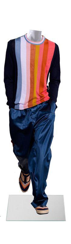 maniqui, manikin, paul Smith, ss2015 menswear, casualwear, colored, traveler, stylish, englishness