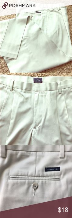 Men's Dockers Khaki Pants Men's Dockers Khaki Pants. 34 X 34. 100% Cotton. Excellent Condition! Dockers Pants Chinos & Khakis